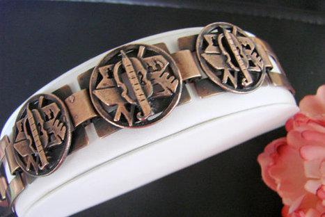 Unique Vintage Copper Egyptian Revival Bracelet / by JoysShop | Jewelry | Scoop.it