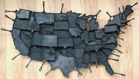 Made in America State Shaped Cast Iron Skillets | Art, Design & Technology | Scoop.it