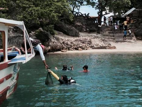 "LOOK: 'Scubasureros' dive for garbage in waters of Hundred Islands (""we need more of them + enforcers"") 