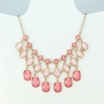 Pink and gold statement necklace | Spring blowout sale! | Scoop.it