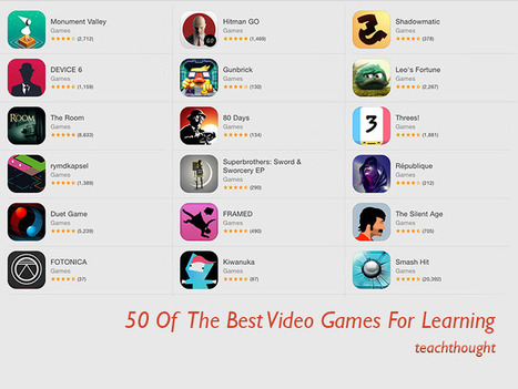 50 Of The Best Video Games For Learning.  Great resource for teachers | Learning, media and community | Scoop.it