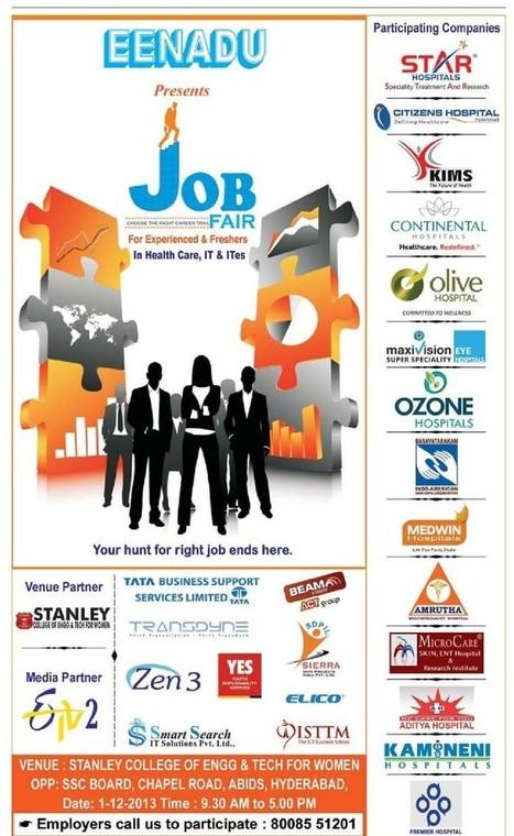 EENADU JOB FAIR - Multiple Positions - abids, Hyderabad - 1st december 2013 | Customer Care Support Number | Scoop.it