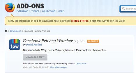 Facebook Privacy Watcher un #addon de #firefox para Controlar privacidad de mensajes en Facebook vía @luz_tic | Lengua, Literatura y TIC | Scoop.it