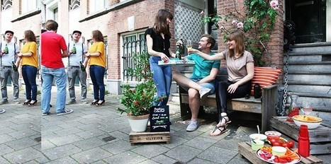 Transformer un banc public en café pop-up | Plusieurs idées pour la gestion d'une ville comme Namur | Scoop.it