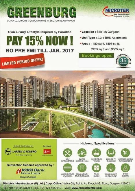 Microtek Green Burg Sector-86 Gurgaon Call @ 9818697444 | Microtek Green Burg sector-86 | Scoop.it