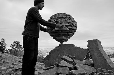 The Balanced Rock Sculptures of Michael Grab Rely Solely on Gravity #art #sculpture #landart | ART worth watching | Scoop.it