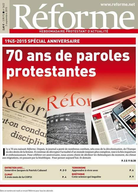 L'hebdomadaire protestant «Réforme» a 70ans | DocPresseESJ | Scoop.it