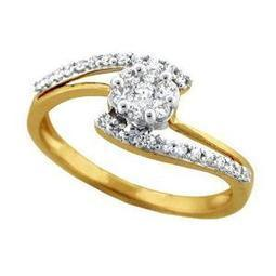 Bling! Hand-Made Ring in Real Gold and Diamonds - BGR043 | Jewellery | Scoop.it