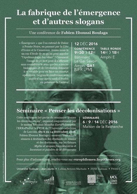 Université Toulouse - Jean Jaurès - La fabrique de l'émergence et d'autres slogans | congres toulouse | Scoop.it