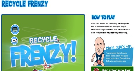 Recycle Frenzy - Games - Visy Enviromaniacs   Educating for a Sustainable Future with Technologies   Scoop.it