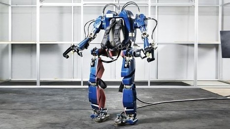 Hyundai shows off its wearable robot Iron Man prototype suit | News | Geek.com | Robotics | Scoop.it