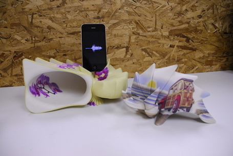 "Help Fund 3D Printed ""Symphony Shells"" That Amplify your iPhone Without Power 