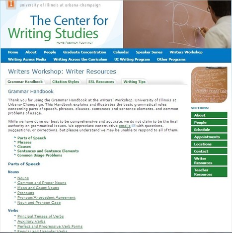Grammar Handbook « Writers Workshop: Writer Resources « | AdLit | Scoop.it