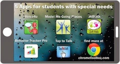 5 Apps para Personas con Necesidades Especiales Comunicación y Comportamiento   Android iOS   Avances en el Estudio de las Dificultades del Aprendizaje   Scoop.it