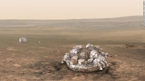 ESA: Mars lander lost during descent | Communication design | Scoop.it