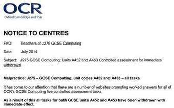 OCR assessment shock hits GCSE Computing students   bITs and pieces   Scoop.it