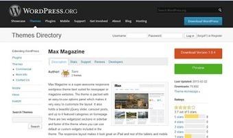 Los Mejores Temas de WordPress para Revistas del 2013 | Social Media | Scoop.it