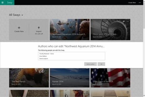 Sway Now Lets Users Collaborate on Content Simultaneously - TNW | EdTech | Scoop.it