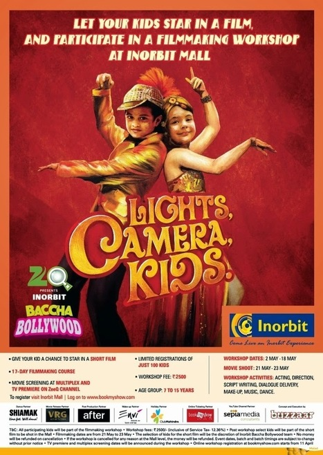 "Inorbit Malls reaches out to young talents this summer with ZeeQ presents ""Inorbit Baccha Bollywood"" – its film making workshop for city kids.- Pocket News Alert 