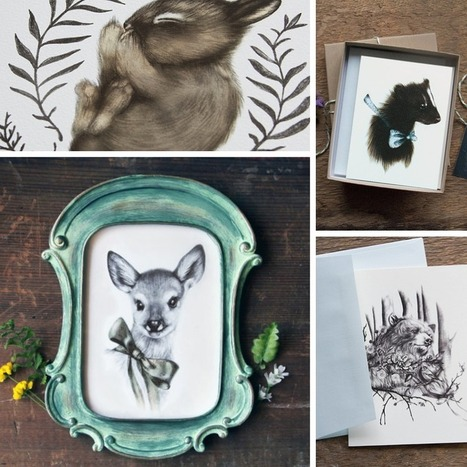 Lovely Little Fawn: Burrowing Home - Woodland Art and Accessories   lovelylittlefawn   Scoop.it