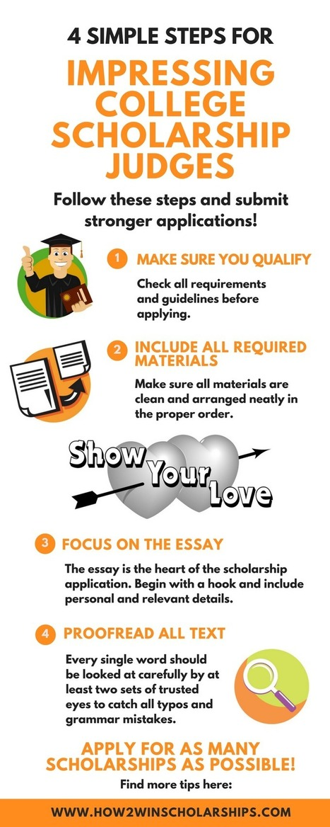 4 Simple Steps to Impress College Scholarship Judges | College Scholarships | Scoop.it