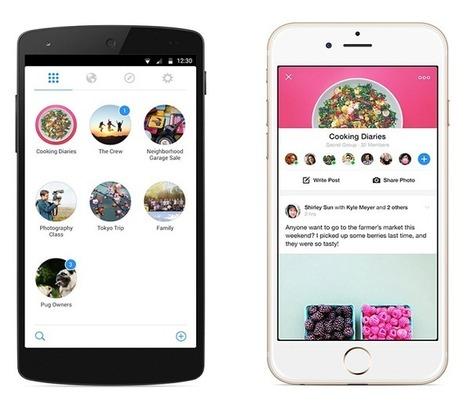 Facebook a une nouvelle application. Elle s'appelle Groups - Presse-citron | Community Manager par Léa GAGET | Scoop.it