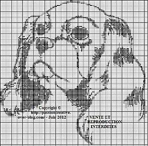 Grille gratuite point de croix chien cavalier - Point de croix compte grille gratuite ...