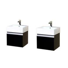 """Shop Bellaterra Home Bellaterra 41-in x 16.5-in Dark Espresso 2 Bathroom Vanity"""" with Vitreous China Top at Lowes.com 