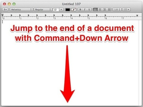 Jump to the End or Start of a Document with a Simple Mac Keystroke | Better teaching, more learning | Scoop.it