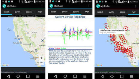 New app uses your cellphone to detect earthquakes | Learning with Mobile Devices | Scoop.it
