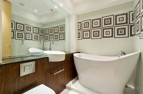 Colorful Ideas To Visually Enlarge Your Small Bathroom | Designing Interiors | Scoop.it