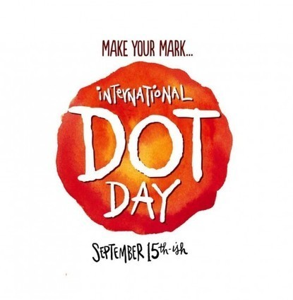 """""""Just make a mark and see where it takes you."""" Getting ready for Dot Day! 