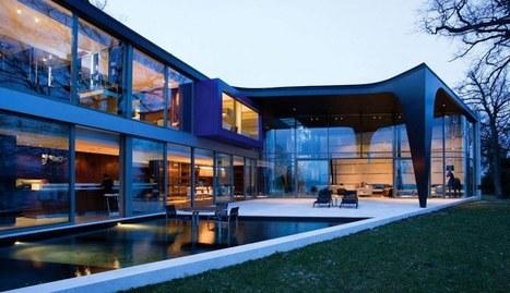 Magnifique villa contemporaine au bord du lac de Genève, Suisse   Construire Tendance   Scoop.it