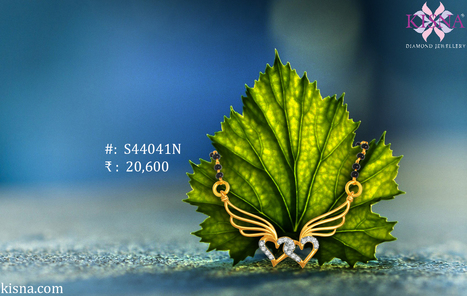 Pledge Your Togetherness In Style! Lovely two heart diamond Tanmaniya pendant   Gold Diamond Jewellery Designs   Scoop.it