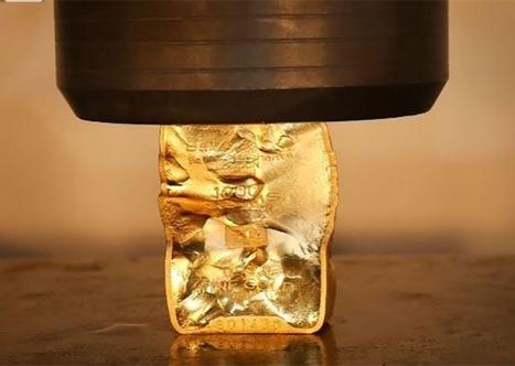 Regardez une presse hydraulique écraser un lingot d'or ! | La revue de presse CDT | Scoop.it