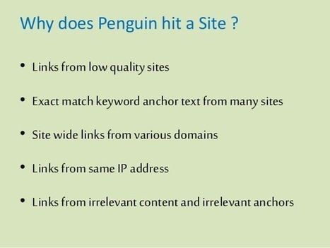 Google Penguin 3.0 version and the recovery steps | SEO Services India | Search Engine Optimisation Specialists | Affordable SEO Packages | Scoop.it