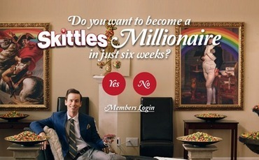 "Skittles entices fans to ""gamify"" a pyramid scheme to win million candies 