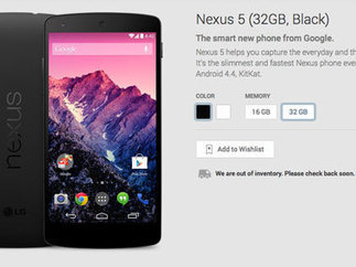 Hours after listing on India Play store, Google's Nexus 5 is out of stock - Firstpost | Online Diwali-gifts | Scoop.it
