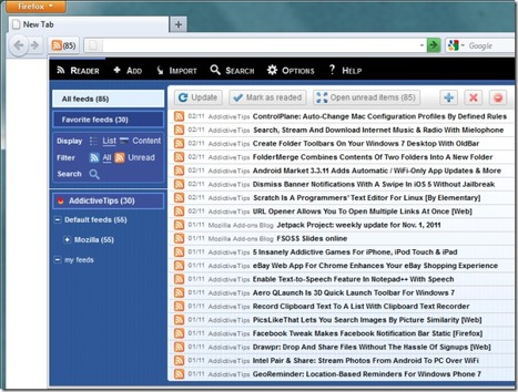 Bamboo Feed Reader For Firefox Conveniently Allows You To Manage Feeds | Moodle and Web 2.0 | Scoop.it