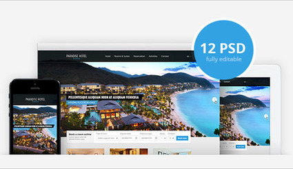 Free Hotel and Travel PSD Website Template - Templatejedi   Web Template   Scoop.it