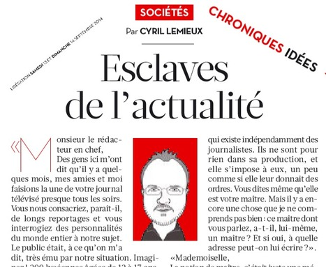 Esclaves de l'actualité   DocPresseESJ   Scoop.it