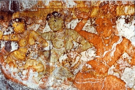 Big temple fresco depicting male dancer | male dancers of bharatanatyam | Scoop.it