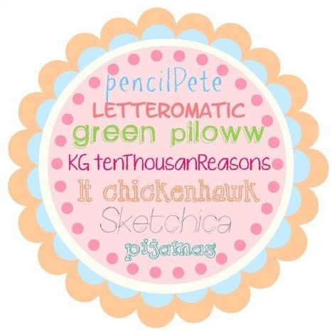 Creative Mindly: Fuentes de texto con efecto de lápiz o escritura de niños | Creatividad | Scoop.it