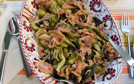 La Tavola Marche: What to do with Escarole? Braise it with Pancetta!   Le Marche and Food   Scoop.it