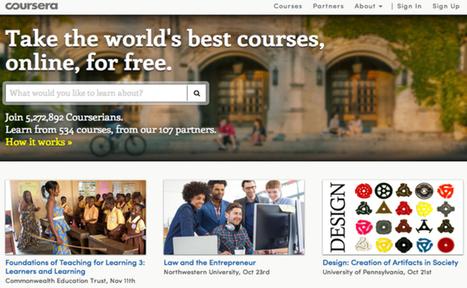 [Cours en ligne] Coursera collabore avec plus de 100 écoles ... | Les MOOC, Cours en ligne ouverts et massifs | Scoop.it