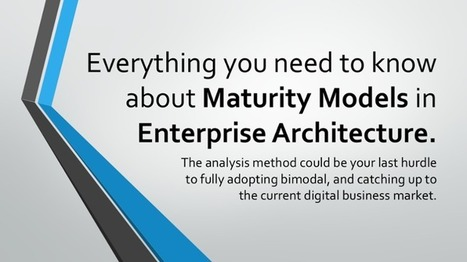 Everything your need to know about Enterprise Architecture Maturity Models | Enterprise Architecture | Scoop.it