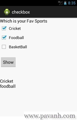 Android CheckBox Example | TutorialsBuzz , Programming Blog for android ,java | Scoop.it