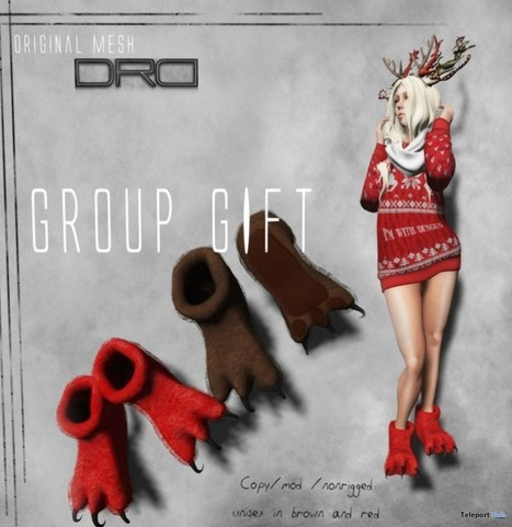 Unisex Paws Slipper Group Gift by Death Row Designs | Teleport Hub - Second Life Freebies | Second Life Freebies | Scoop.it