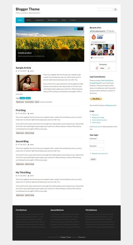 Free Drupal Responsive Themes Best and Unique ~ Free WordPress Themes - WP Themes Daddy   Free Wordpress Themes   Scoop.it