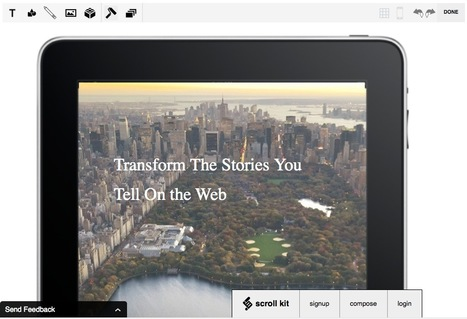 The Free-Form Visual Web Publishing Editor: Scroll Kit | Web Resources | Scoop.it